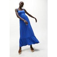 Coast Square Neck Tiered Jersey Maxi Dress -, Blue