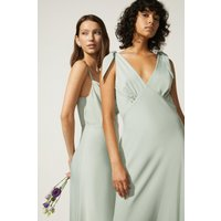 Coast Oasis Tie Strap Bias Cut Maxi Dress -, Sage