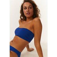 Coast Waffled Bandeau Bikini Top -, Blue