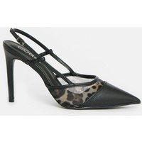 Coast Mesh Sling Back Court Shoe -, Black