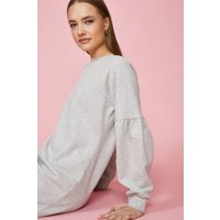 Coast Drop Sleeve Sweat Dress -, Grey Marl