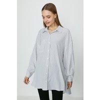 Coast Relaxed Pocket Detail Spot Shirt -, Ivory