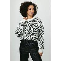 Coast Intarsia Knit Jumper -, Zebra