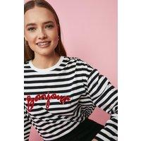 Coast Bonjour Long Sleeve Stripe Top -, Ivory