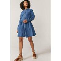 Coast Chambray Shirt Dress -, Blue