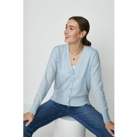 Coast Lace Sleeve Knitted Cardigan -, Pale Blue
