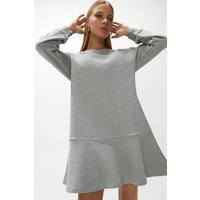 Coast Long Sleeved Flippy Sweat Dress -, Grey Marl