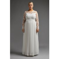 Coast Curve Embroidered Long Sleeve Maxi Dress -, Ivory