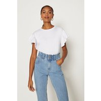 Coast Ruffle Sleeve T-Shirt, White