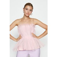 Coast Tulle Bandeau Top, Pink