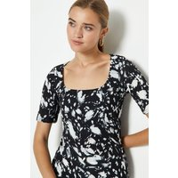 Coast Square Neck Printed Top -, Mono