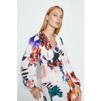 Coast Floral Maxi Wrap Dress, Multi