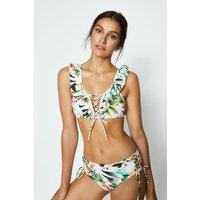 Coast Ruffle Front Tropical Bikini, White
