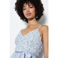 Coast Strappy Tie Belted Maxi Dress, Ice Blue