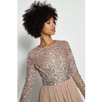 Coast Sequin Ombre Maxi Dress -, Nude