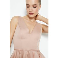 Coast V Neck Satin Short Dress, Pink