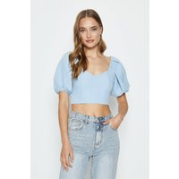 Coast Statement Sleeve Outfitter Top -, Pale Blue