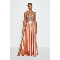 Coast Satin Maxi Skirt, Pink