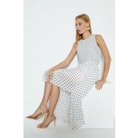 Coast Spot Print Overlay Dress, Ivory