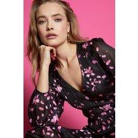 Coast Printed Wrap Midi Dress, Floral