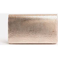 Metallic Embossed Clutch Bag Pink, Pink