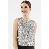 Sequin Shirt Top Multi, Multi