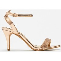 Coast Diamante Ankle Strap Sandals -, Pink