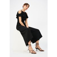 Coast Plus Size Cold Shoulder Jumpsuit, Black