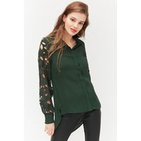 Interest Sleeve Shirt Green, Green