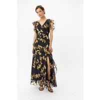 Coast Plus Size Gold Burnout Maxi Dress, Multi