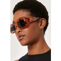 Resin Square Thick Arm Sunglasses