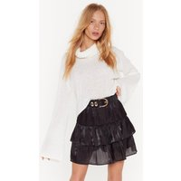Came Tier To Party Mini Skirt