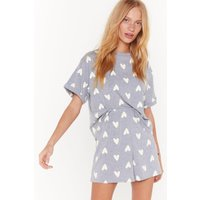All You Need Is Love Heart Short Pajama Set