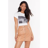 All I Faux Leather Wanted Mini Skirt