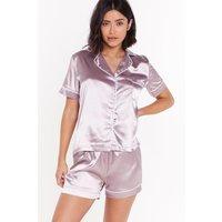 Beauty Sleep Satin Short Pajama Set