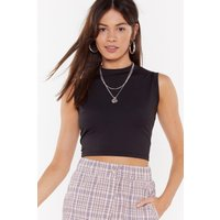 An All-rounder High Neck Crop Top