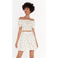 All Of Your Florals Fit & Flare Mini Skirt