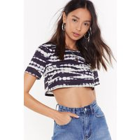 Always Good Vibes Tie Dye Crop Tee