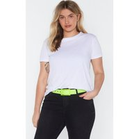 All Eyes Neon You Clear Buckle Belt