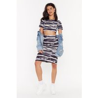 Always Good Vibes Tie Dye Midi Skirt