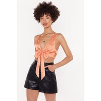 A Tie For A Tie Lace Crop Top