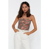 Animal Floral Ruched Cami