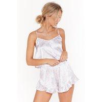 Bring Home The Bed Satin Paisley Pajama Set