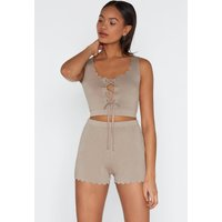 Bare Play Crop Top And Shorts Set