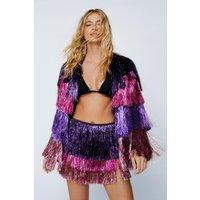 Party Crasher Multicolored Fringe Shorts