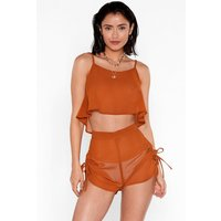 Beachy Keen Cami Top And Shorts Cover-up Set