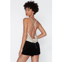 Back It Up Cowl Bodysuit