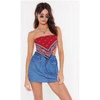 After Party Vintage Crop Out Bandana Top