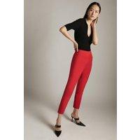 Karen Millen Essential Techno Woven Crop Trouser -, Red