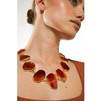 Karen Millen Gold Plated Stone Necklace -, Pink